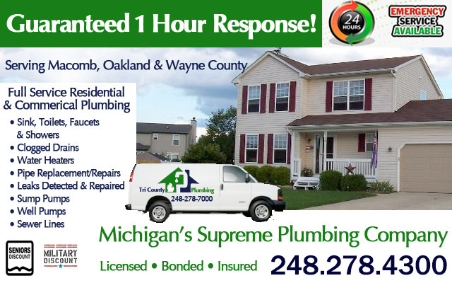 Emergency Tri County Michigan Plumbers